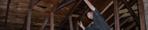 image of man in attic
