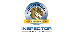 Deck inspector badge with inspector nation logo