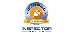 certified electrical inspector badge with inspector nation logo