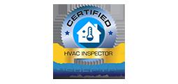 certified HVAC inspector badge with inspector nation logo