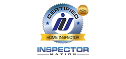 certified home inspector badge with inspector nation logo