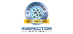 certified mold inspector badge with inspector nation logo