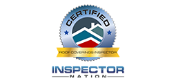 certified roof covering inspector badge with inspector nation logo